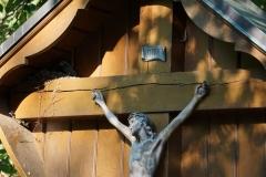 Bewusst wahrgenommen wurde das 30 Jahre alte Kolpingkreuz, in dessen Eck gerade Vögel brüten.