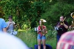 Musikalisch begleitete ein Teil der Kolping-Bläser.