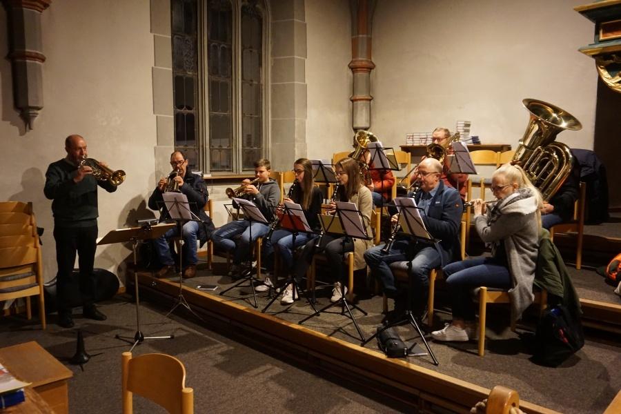 Musikalisch begleiteten die Kolpingbläser den Gottesdienst.