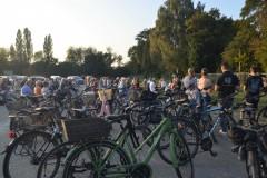 Auch viele Fahrräder waren dabei.