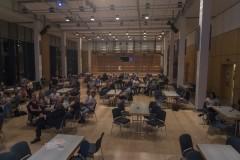 Gut verteilt im Saal saßen 74 Stimmberechtigte zur Mitgliederversammlung.