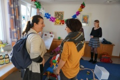 Interessierte Familien konnten sich beim Tag der offenen Tür über das Angebot der Nestgruppe informieren