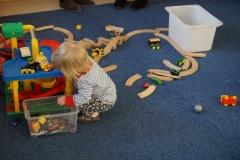 Natürlich wurde vor Ort auch direkt das Spielzeug getestet.
