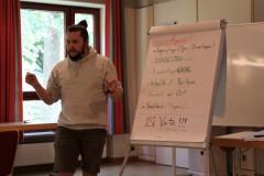 Michael Säckl informierte die Jugend.