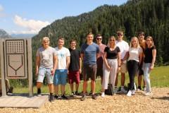 Ein Teil der Gruppenleiter in Oberammergau.