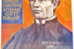 Im Detail: Das Bild des seligen Adolph Kolping.