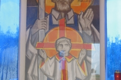 Im Detail: Das Bild des heiligen Joseph.